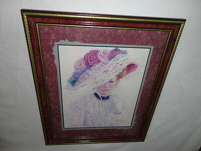 Home Interiors '' Victorain Lady in Hat '' Picture  Gorgeous   28.5'' x 22.5''