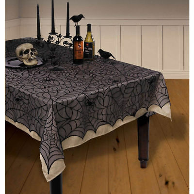 Halloween Lace Gothic Spiderweb Cobweb Web Party Tablecloth Tablecover Hot