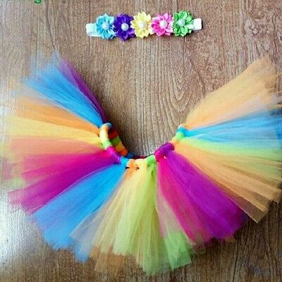 Newborn baby tutu flower headband photo shoot Prop baby shower gift photography