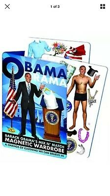 OBAMA RAMA Magnetic Dress-Up Mix'N'Match Wardrobe For Barack Obama NEW IN PACKAG