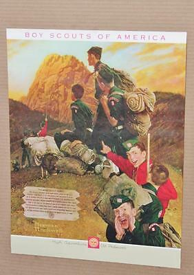 Norman Rockwell Boy Scout print set of 6 prints 1970s mint 16x21 inches Vintage