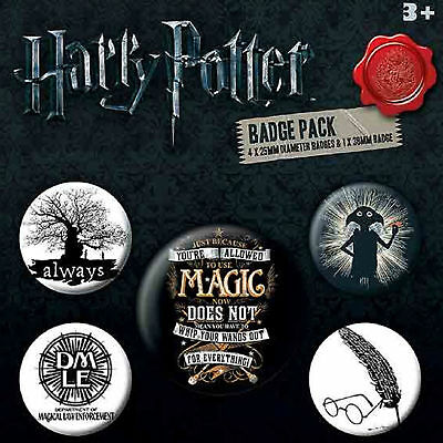 Harry Potter Badge Pack Allowed to use Magic Symbols Logo Official New 5x Button