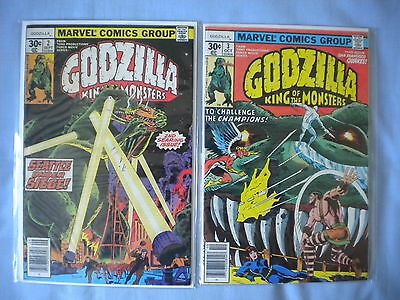 Godzilla King Of The Monsters Comics - #2, #3 - MARVEL - Bagged & Boarded