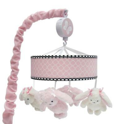 Lambs & Ivy(R) Duchess Pink/Black Bunny Musical Mobile
