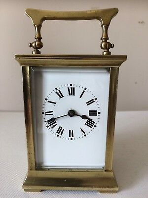 Antique Late 19th Century French 8 Day Carriage Clock Working