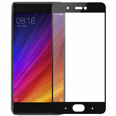 Black Full Coverage Gorilla Tempered Glass Screen Protector For Xiaomi Phones