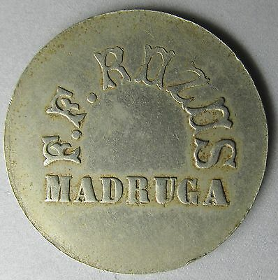 Madruga, F.F.ROZOS 10 Centavos Trade Token; Havana Gambling House Rulau Unlisted