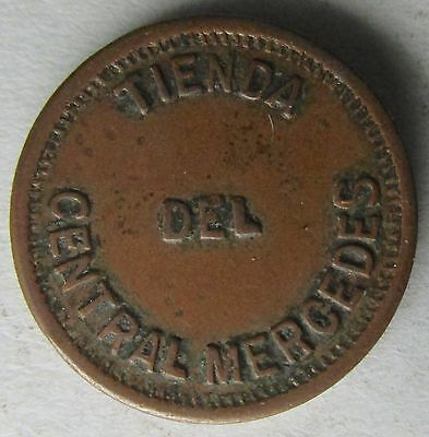Carribean, Matanzas Province, TIENDA DEL CENTRAL MERCEDES 1 Centavo Trade Token