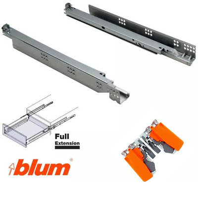 Blum Tandem Runners Drawer Slides Blumotion Soft Close 30kg Undermounted