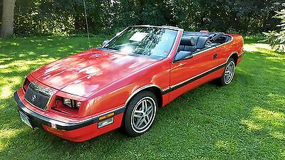 1987 Chrysler LeBaron  2 Owner Garage Find 37k Miles Console Shifter V8 Beautiful Car Drives Like New