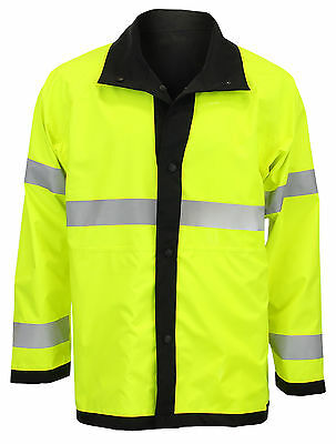 Blauer Reversible Rain Jacket Hi-Vis Yellow / Black - Multiple Sizes
