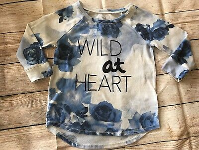 Justice Girls' Long Sleeve Knotted Top Shirt - Size 8 Wild At Heart