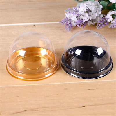 20/50X Clear Plastic Mini Cupcake Boxes Cake Packing Boxes Muffin Pod Dome Box