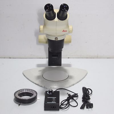 Leica S4E Stereo Zoom Microscope With Stand, Light Source  & 10X Eyepieces