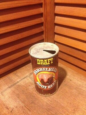 VTG Draft Style Barrelhead Root Beer Canada Dry Rochester Steel Can ADVERTISING