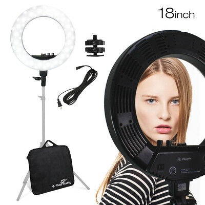 "Continuous Photo Lighting 18"" LED 50W Dimmable Photography Ring Light Light"