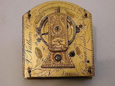 Antique English Verge Fusee Carriage Clock Movement By Nathan, London