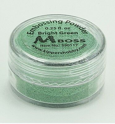 MBoss Embossingpuder, BRIGHT GREEN, 7g Dose, Embossingpulver,390117,0.28 Euro/g