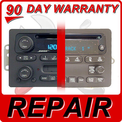 REPAIR YOUR GM Radio Chevy GMC Silverado Avalanche Sierra CD Player Disc FIX OEM