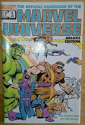 The Official Handbook of the Marvel Universe Vol. 2 #5 Apr 1986 Marvel VF+(8.5)