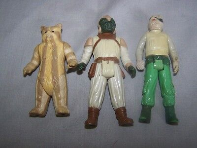 Vintage star wars action figures x 3