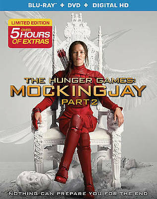 NEW/SEALED! The Hunger Games: Mockingjay Part 2 [Blu-ray + DVD + Digital HD]
