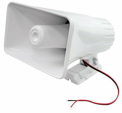 Pyle Home Office Warehouse Electric Security Surveillance Horn Speaker Siren
