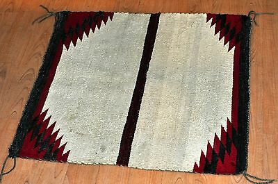 Navajo Native American Indian Blanket-HAND WOVEN NAVAJO SHEEP WOOL RUG