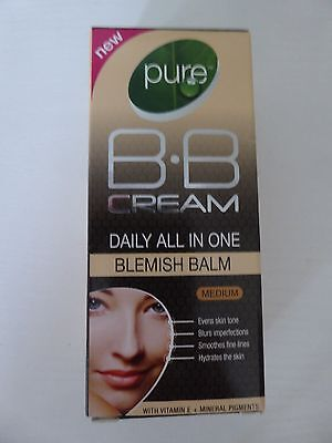 30ml Pure BB Cream daily all in one blemish balm, medium shade, brand new in box