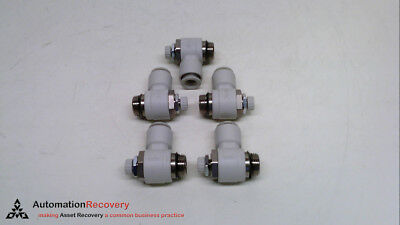 Smc As3201F-U03-10 - Pack Of 5 - Air Flow Control Valve, New* #234714