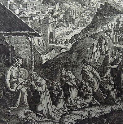 1593 NATAL Wierix Collaert Vos Galle PASSION Adoration of the MAGI 16th Century