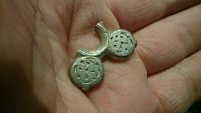 Beautiful Celtic solid silver decoration part beautiful design rare item 4.60g