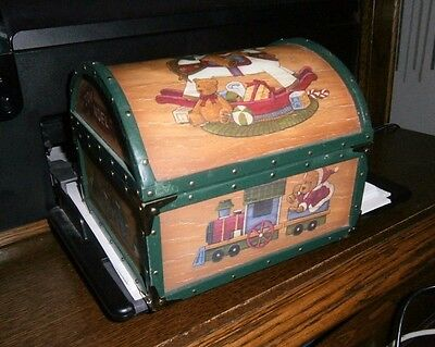 "Wooden music box ""Santa Claus is coming into Town"" Spieluhr"
