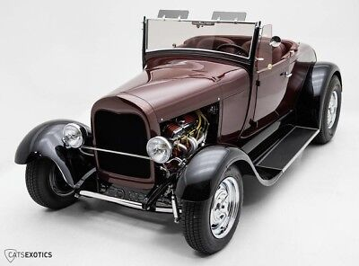 1927 Ford Model A Roadster Rootbeer Metallic - Chevy 283 V8 - Turbo 350 Trans - '57 Chevy Rear End -