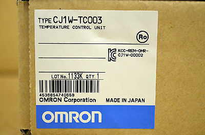 OMRON CJ1W-TC003 Temperature Control Unit NEU NEW OVP