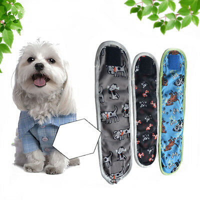 3pcs Dog Puppy Diaper Male Boy Belly Band Reusable Washable for Small Pets