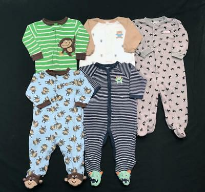 BABY BOY 9 months 12 months ALL Carter's footie SLEEPER PAJAMAS Clothes Lot