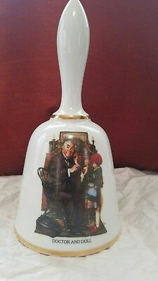 norman rockwell bell series doctor and doll