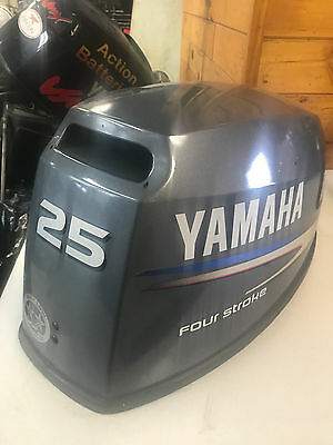 2004 Yamaha F 25 HP 4 Stroke Outboard Engine Top Cowl Cover Hood Freshwater MN