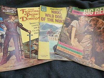 3 vintage Disney comics lot