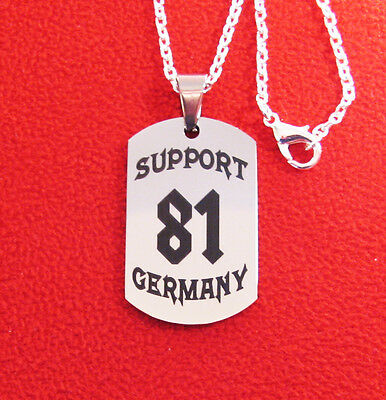 Anhänger SUPPORT 81 GERMANY, BRM, Red & White, HA, MC