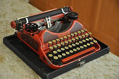 Antique Corona Smith Typewriter - Red Color