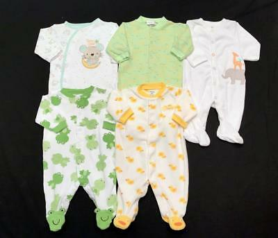 BABY GIRL BOY UNISEX NEUTRAL 0-3 months CARTER'S SLEEPER PAJAMAS Clothes Lot