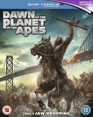 BRAND NEW! FACTORY SEALED! Dawn of the Planet of the Apes Blu-ray