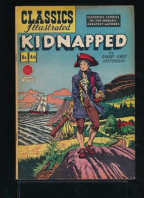 KIDNAPPED 1940s Classics Illustrated Comic #46 HRN 62 Ed. 2A VG/FN