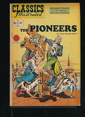 THE PIONEERS 1940s Classics Illustrated Comic #32 HRN 62 VG/FN