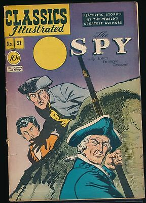 THE SPY 1948 Classics Illustrated Comic Book #51 (O) 1st Edition VG/F