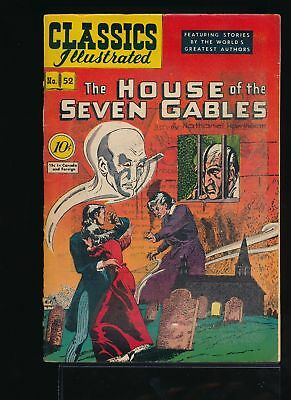 THE HOUSE OF SEVEN GABLES 1948 Classics Illustrated Comic #52 (O) 1st Ed VG/F