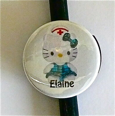 Id Stethoscope Name Tag Nurse Hello Kitty Medical, Doctor Hospitals,tech