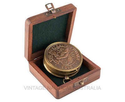 Vintage Nautical Sundial Compass Brass Antique Koala Native Australian Gift